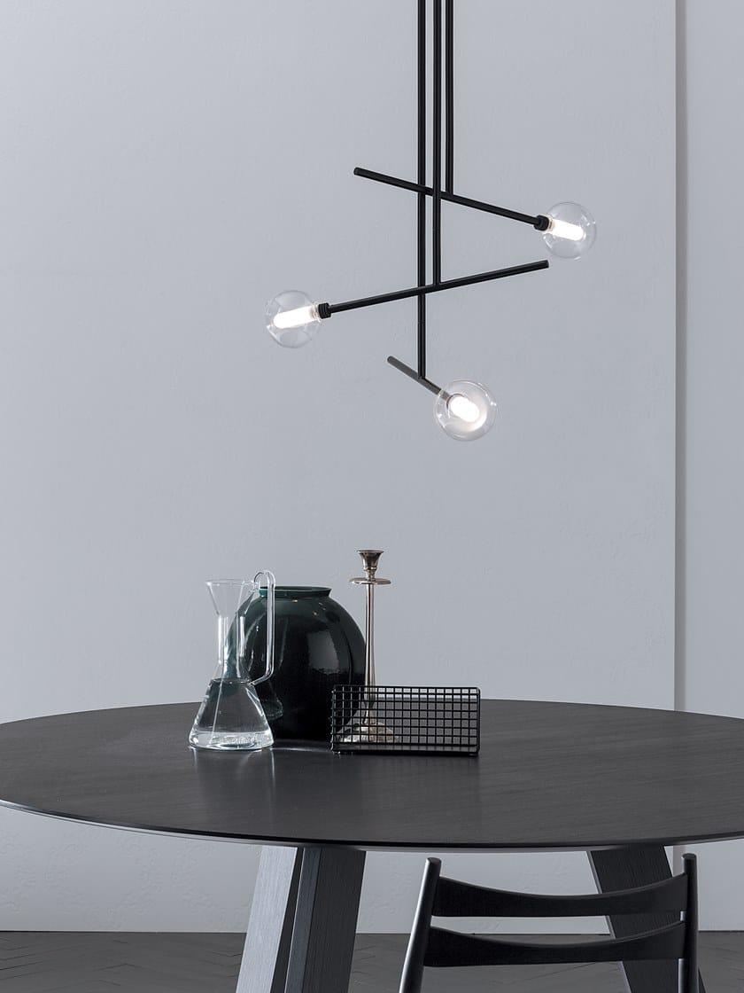 Lampade Sospensione A Grappolo lampada a sospensione a luce diretta in metallo brillo