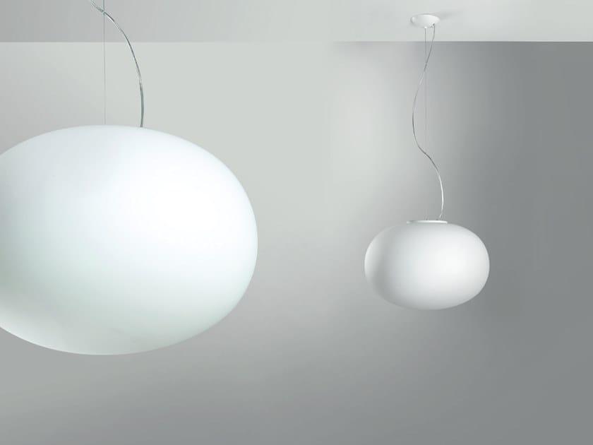 Blown glass pendant lamp MERCURY   Pendant lamp by Cattaneo