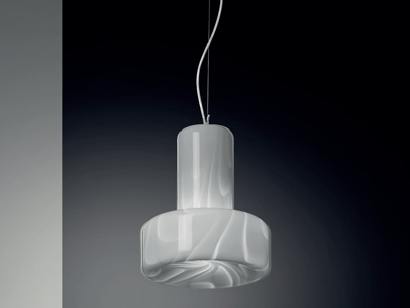 Glass pendant lamp TAM TAM | Pendant lamp by Cattaneo