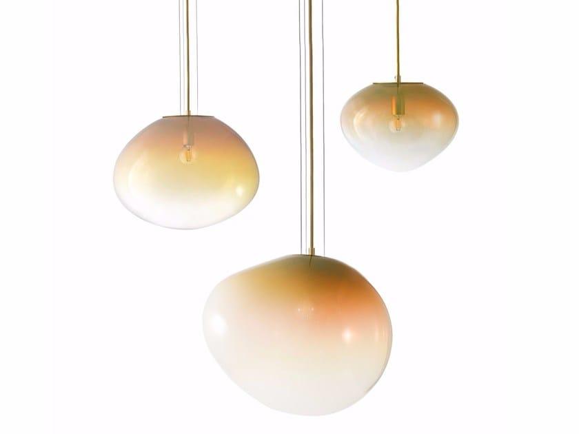 Handmade blown glass pendant lamp SIRIUS | Pendant lamp by ELOA