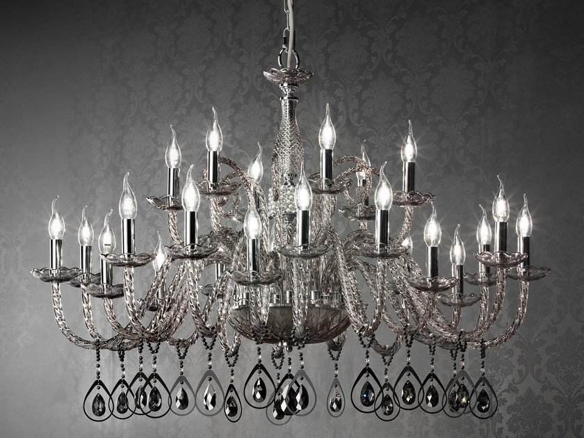 Chandelier with Swarovski® Crystals TOOCHIC L12+6+6 by Euroluce Lampadari