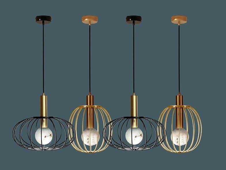 Lampada a sospensione a LED in metallo LIRA | Lampada a sospensione by Borzalino