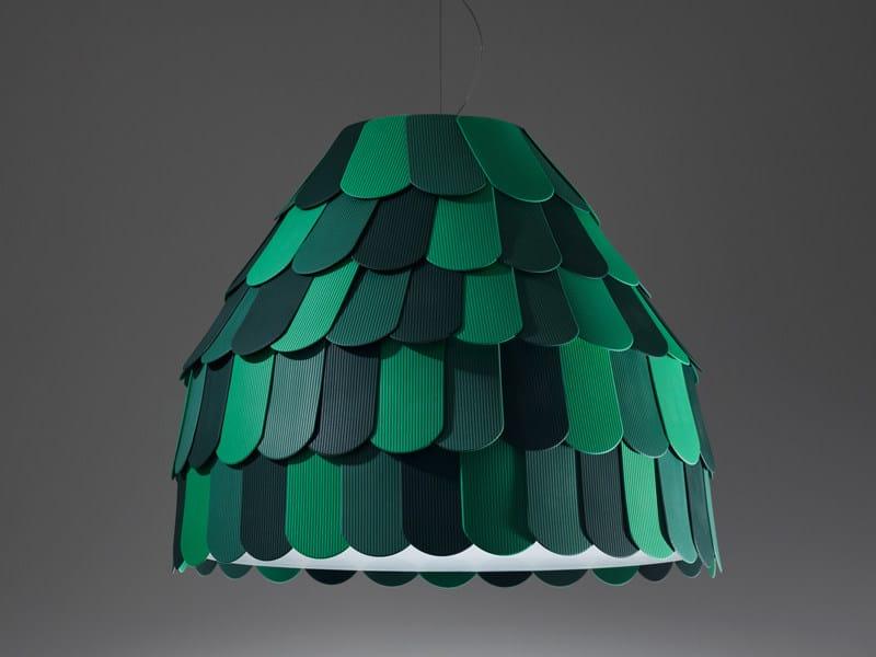 Plastic pendant lamp ROOFER | Pendant lamp by Fabbian
