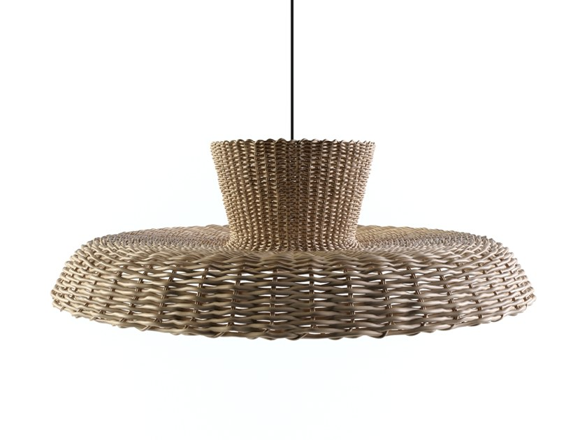 Wicker pendant lamp STRIKHA | Pendant lamp by FAINA Collection