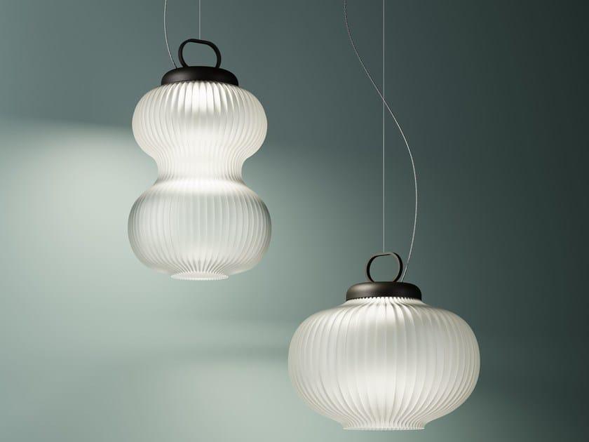 Blown glass pendant lamp KANJI | Pendant lamp by FontanaArte