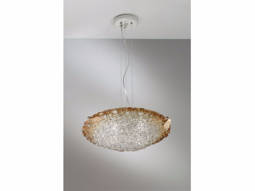 Indirect light crystal pendant lamp BETULLA | Pendant lamp by IDL EXPORT