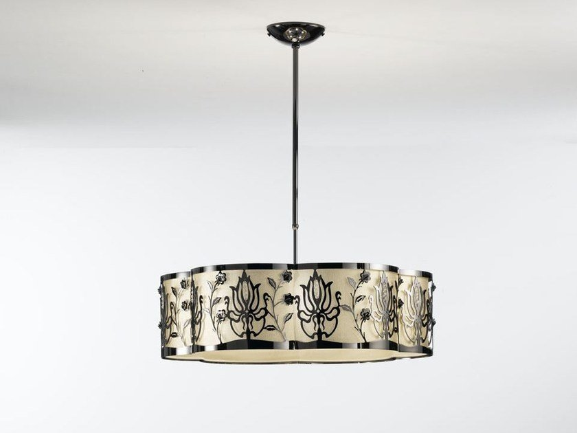 Fabric pendant lamp with Swarovski® Crystals MARGOT | Pendant lamp by IDL EXPORT