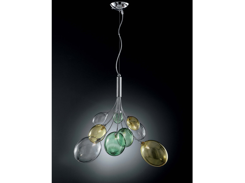 Direct light Pyrex® pendant lamp BOLLA | Pendant lamp by IDL EXPORT