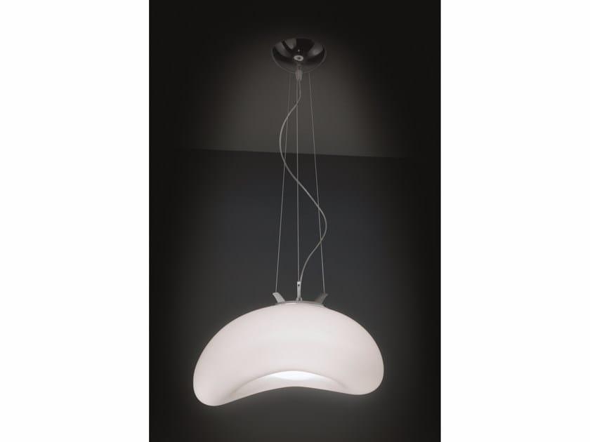 Blown glass pendant lamp FAGIOLO   Pendant lamp by IDL EXPORT