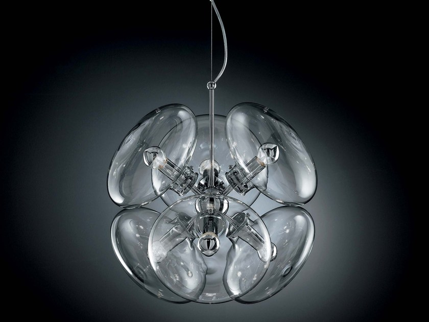 Direct light Pyrex® pendant lamp MOIRA   Pendant lamp by IDL EXPORT
