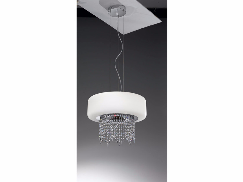 Blown glass pendant lamp with Swarovski® Crystals TIFFANY | Pendant lamp by IDL EXPORT