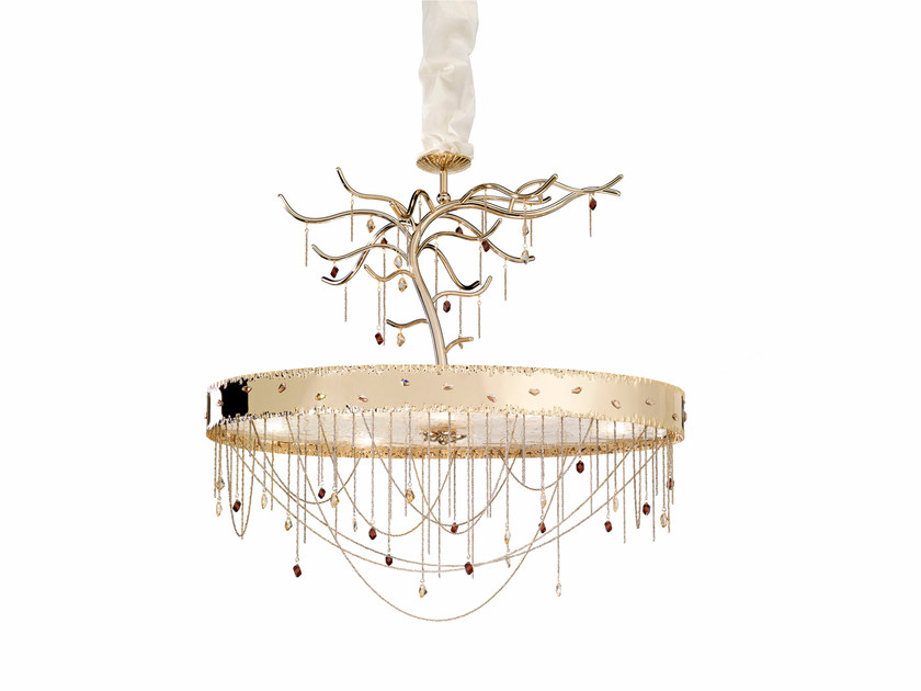 Metal pendant lamp with Swarovski® Crystals HERITAGE   Pendant lamp by IDL EXPORT