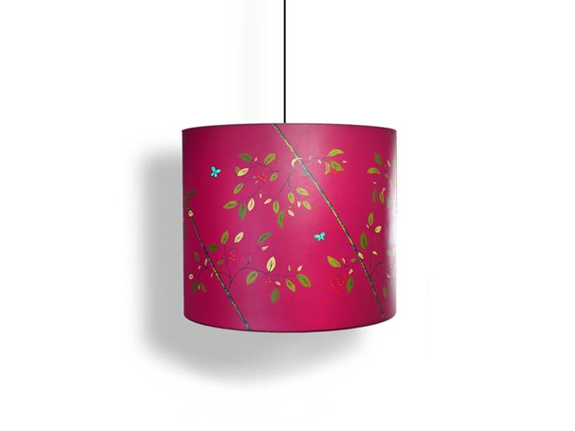 Paper pendant lamp / lampshade BUTTERFLIES BORDEAUX by Kappennow