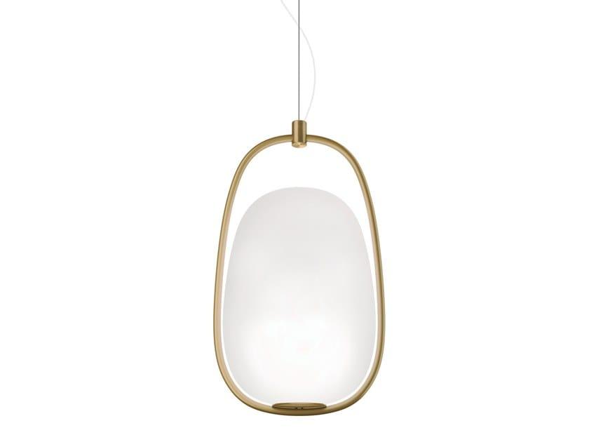 Opal glass pendant lamp LANNÀ | Pendant lamp by KUNDALINI