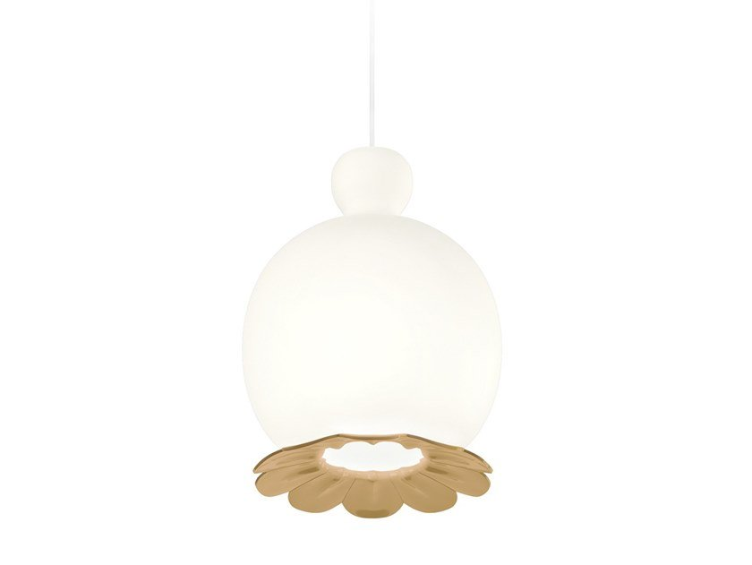 Opal glass pendant lamp OPYO | Pendant lamp by KUNDALINI