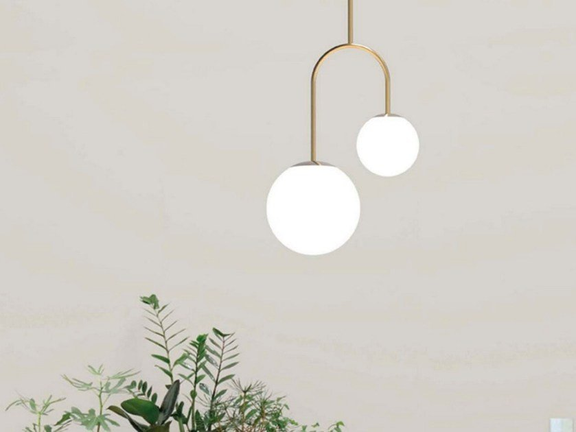 Metal pendant lamp MOONS | Pendant lamp by Marchetti