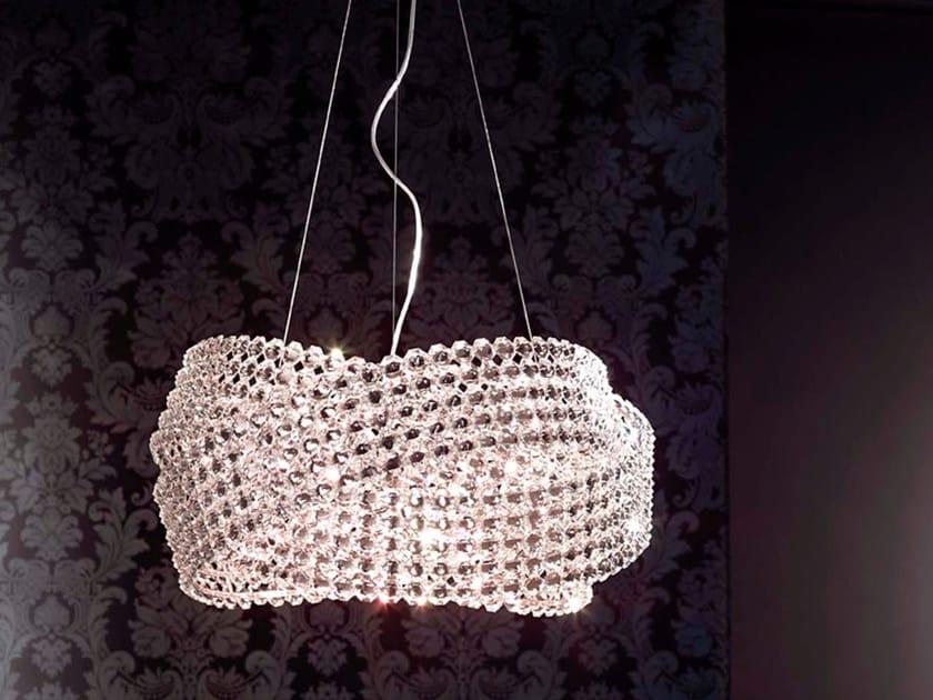 Lampada a sospensione in cristallo DIAMANTE | Lampada a sospensione by Marchetti