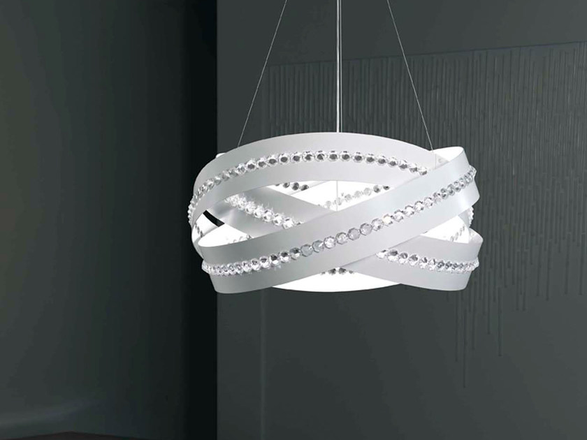 Metal pendant lamp with crystals ESSENTIA | Pendant lamp by Marchetti