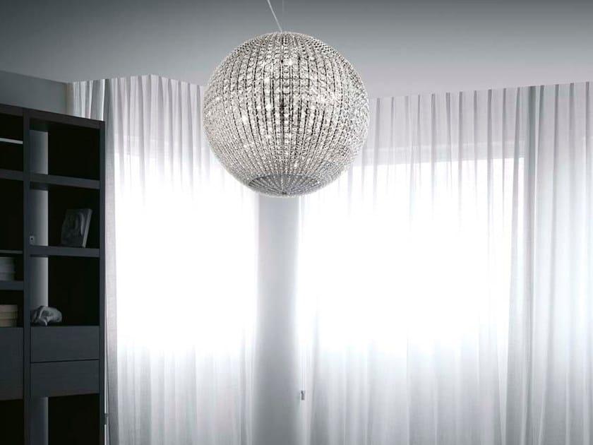 Crystal pendant lamp HELIOS | Pendant lamp by Marchetti
