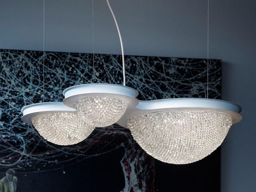 Lampada a sospensione a LED in cristallo BOOL | Lampada a sospensione by Masiero