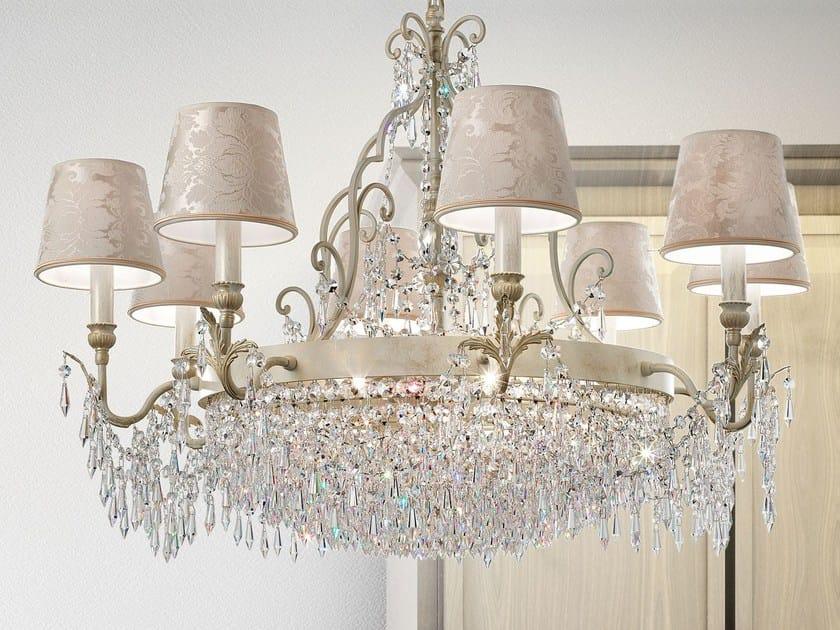 Direct light metal chandelier GLASSÉ | Chandelier by Masiero