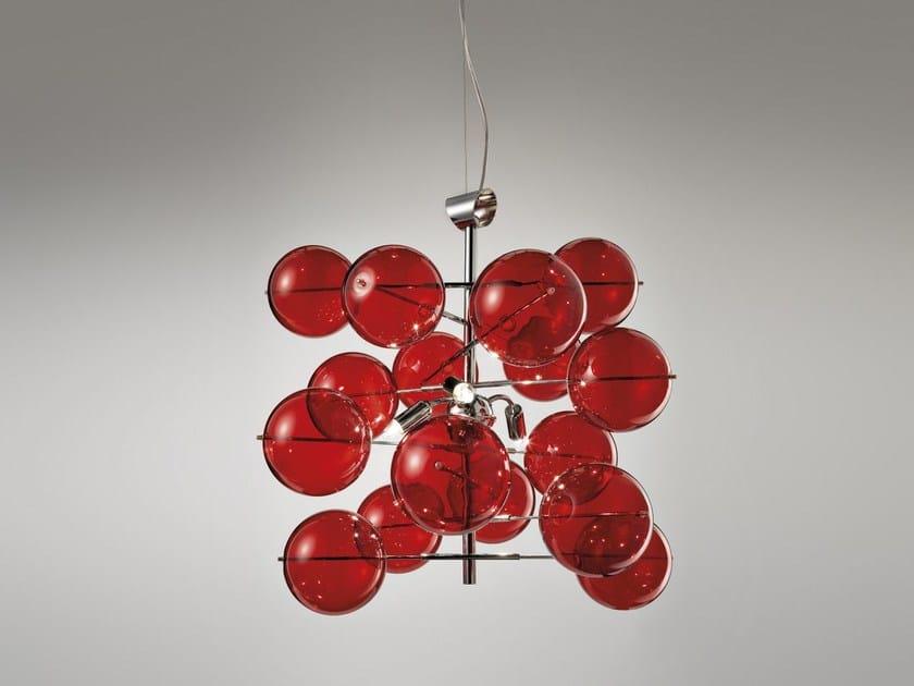 Lampada a sospensione in cristallo ATOM Ø 40 | Lampada a sospensione by Metal Lux