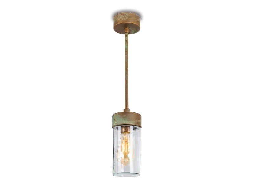 Lampada a sospensione per esterno a LED in ottone SILINDAR | Lampada a sospensione per esterno by Moretti Luce