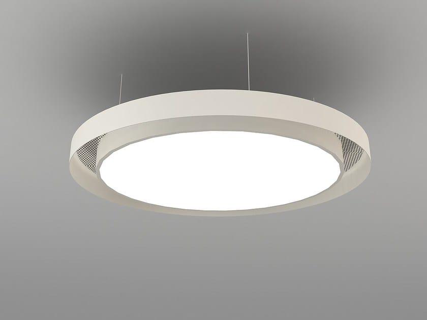 Hanging acoustical panel / pendant lamp NCM LA D600-900-1200DA | Pendant lamp by Neonny