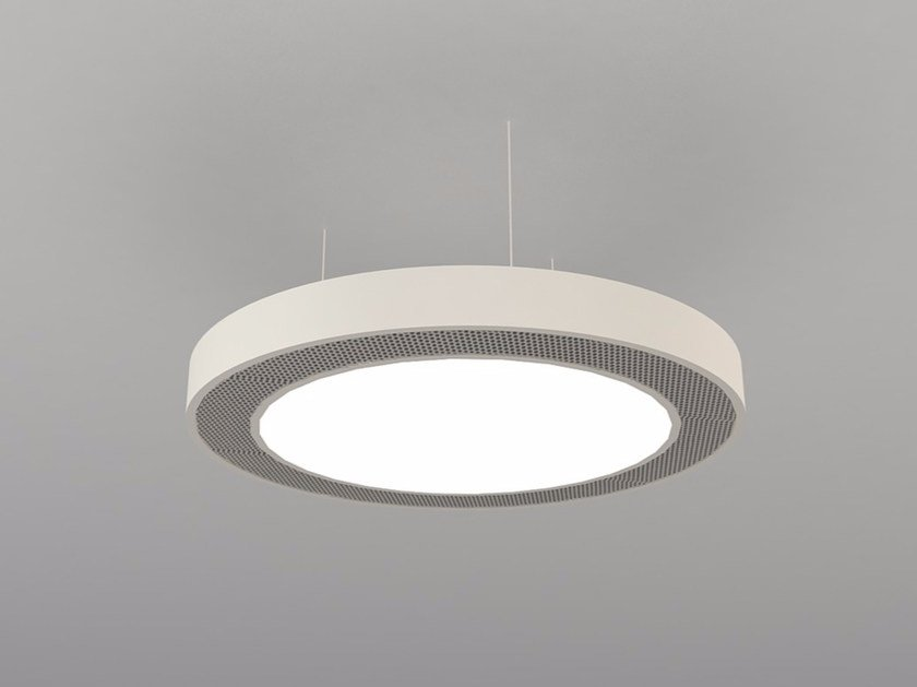 Hanging acoustical panel / pendant lamp NCM LA D600-900-1200DB | Pendant lamp by Neonny