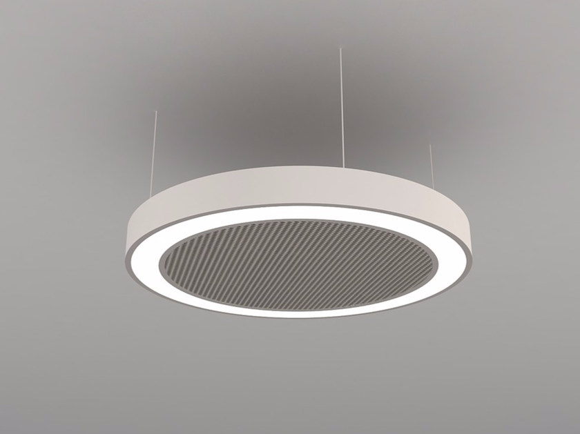 Hanging acoustical panel / pendant lamp NCM LA D600-900-1200FB | Pendant lamp by Neonny