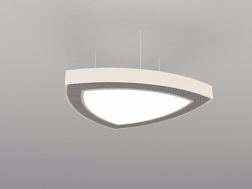 Hanging acoustical panel / pendant lamp NCM LA T600-900-1200RTRB   Pendant lamp by Neonny