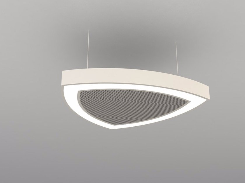 Hanging acoustical panel / pendant lamp NCM LA T600-900-1200RFB | Pendant lamp by Neonny