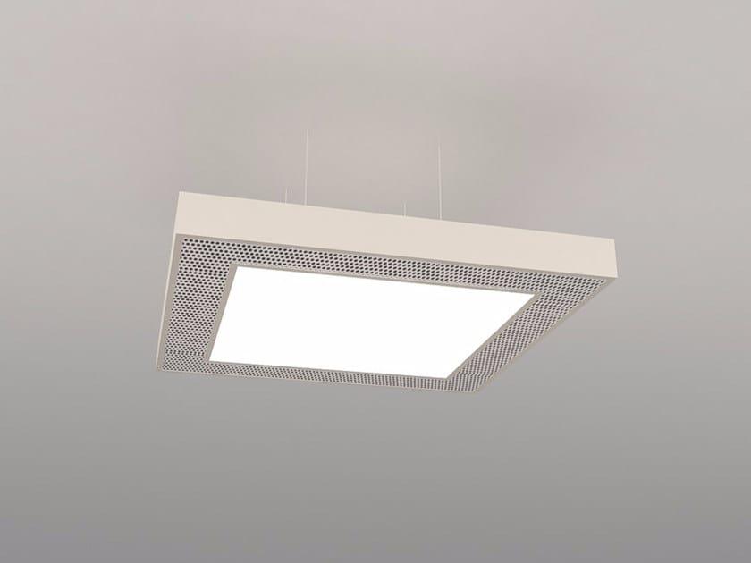 Hanging acoustic panel / pendant lamp NCM LA S600-900-1200SB | Pendant lamp by Neonny