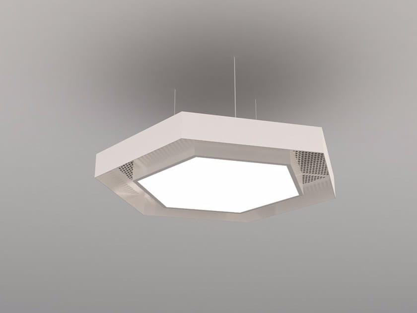 Hanging acoustic panel / pendant lamp NCM LA H600-900-1200HA | Pendant lamp by Neonny