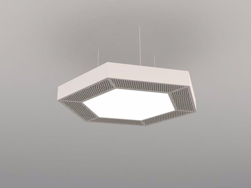 Hanging acoustical panel / pendant lamp NCM LA H600-900-1200HB | Pendant lamp by Neonny