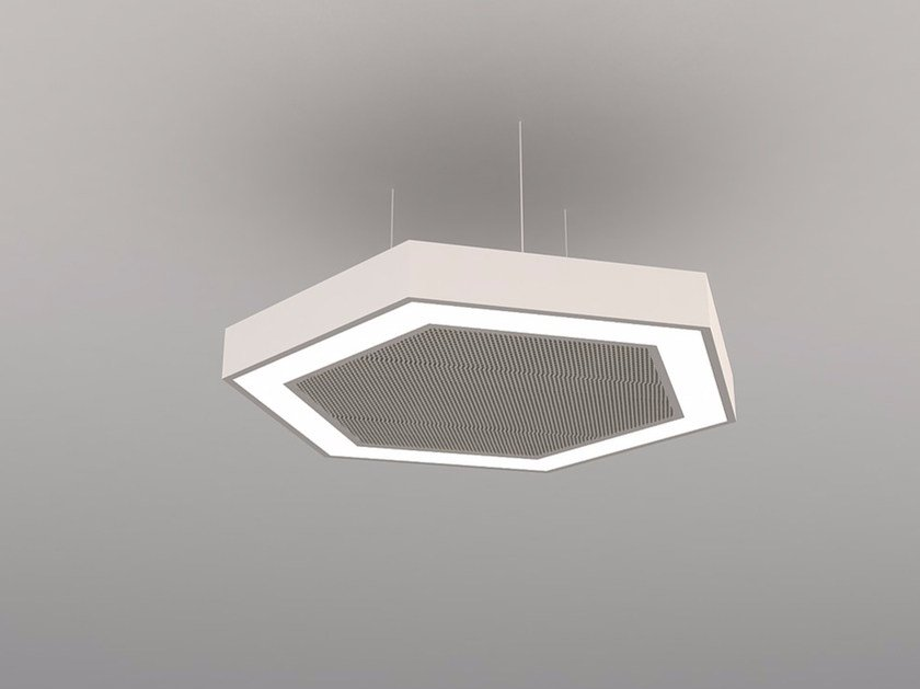 Hanging acoustical panel / pendant lamp NCM LA H600FB | Pendant lamp by Neonny