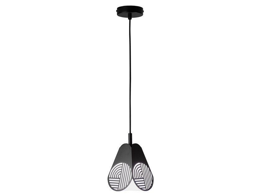 Glass and steel pendant lamp NOTIC | Pendant lamp by OBLURE