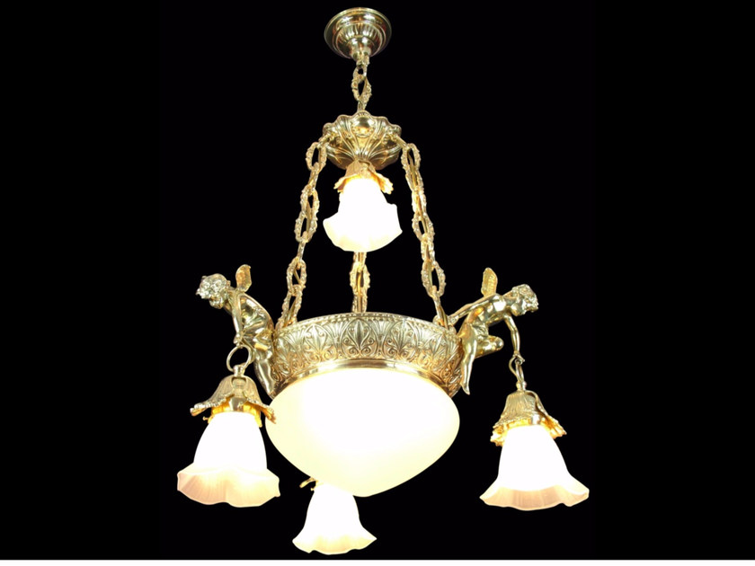 Lampada a sospensione in ottone FLORENCE | Lampada a sospensione by Patinas Lighting