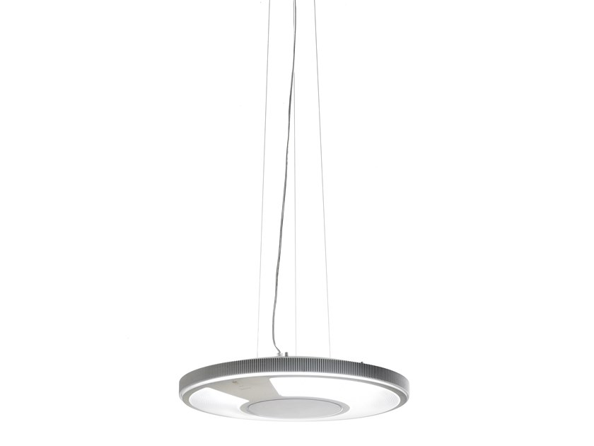 Fluorescent polycarbonate pendant lamp LIGHTDISC | Pendant lamp by LUCEPLAN