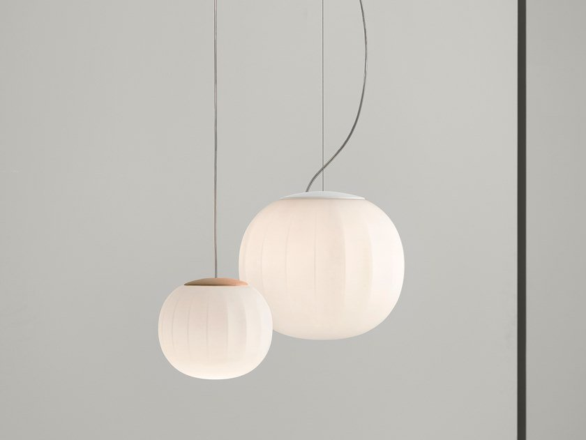 LED blown glass pendant lamp LITA | Pendant lamp by LUCEPLAN