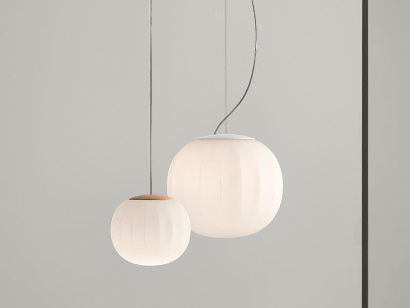 Lampada a sospensione a LED in vetro soffiato LITA | Lampada a sospensione by LUCEPLAN