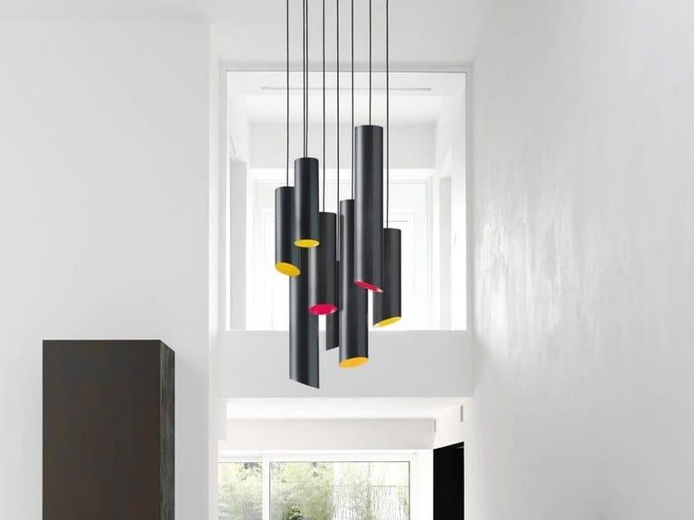 LED carbon fibre pendant lamp SLICE | Pendant lamp by Quadrifoglio