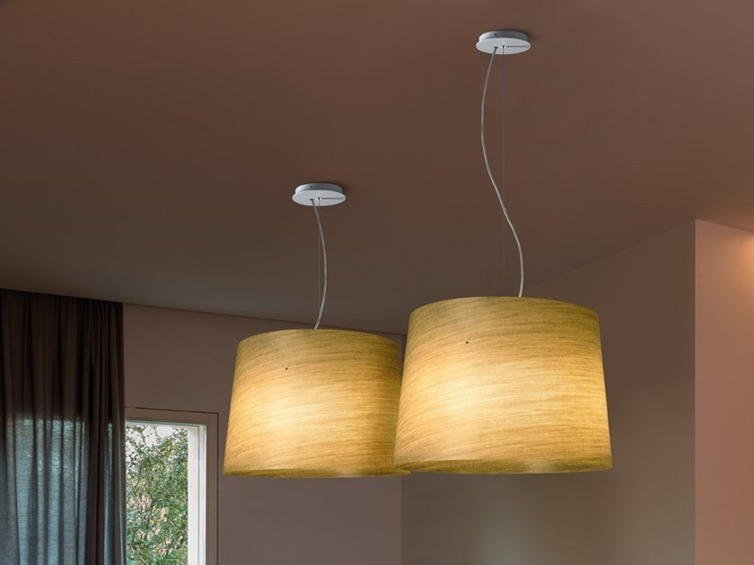 Linen pendant lamp GRACE   Pendant lamp by Quadrifoglio