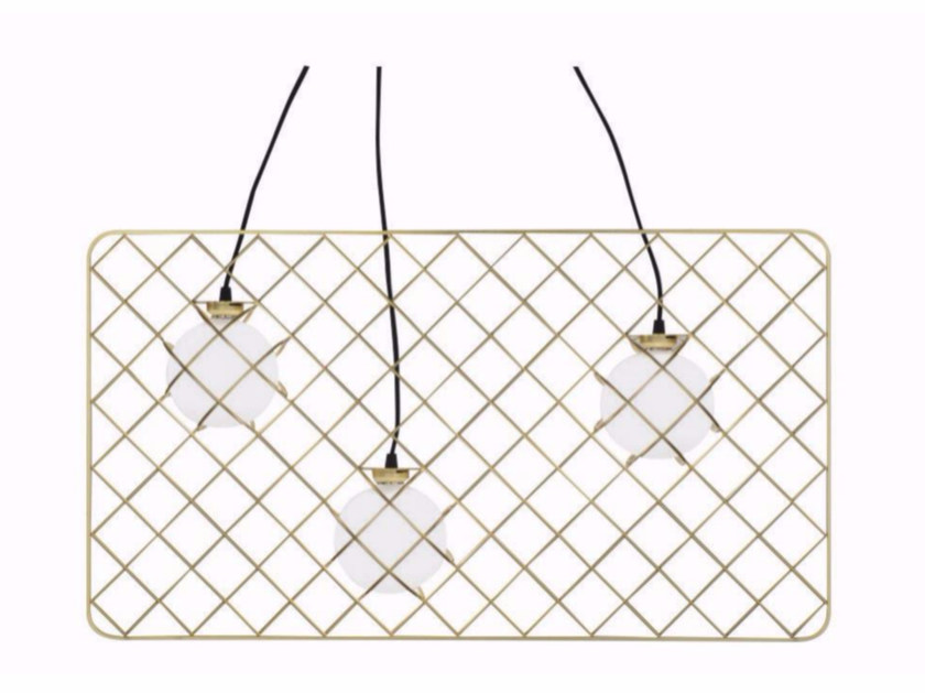 Halogen glass and steel pendant lamp LIGHT CATCHER | Pendant lamp by ROCHE BOBOIS