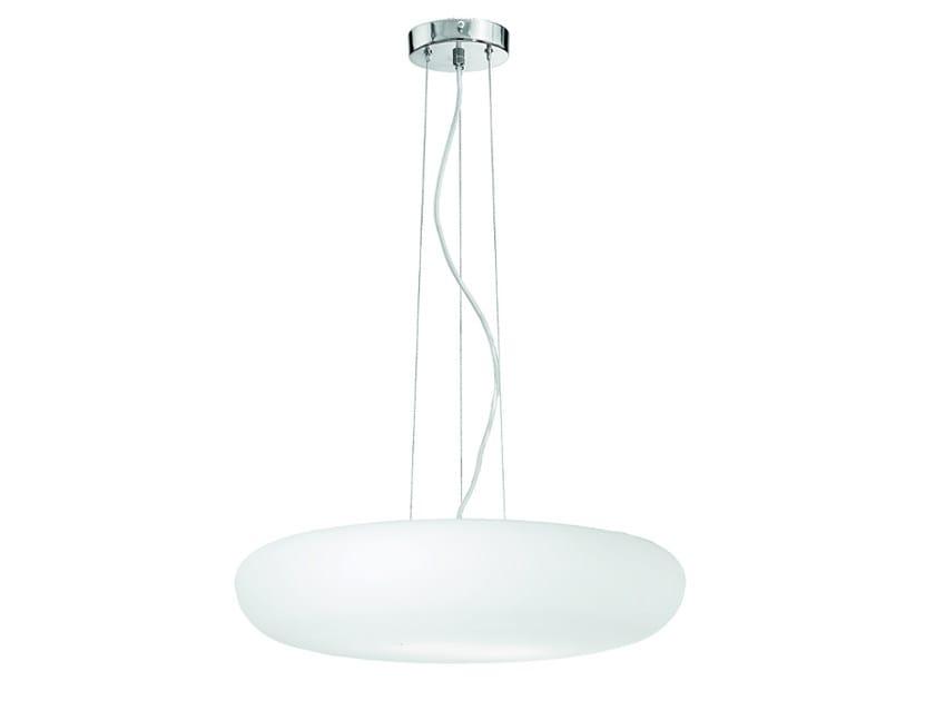 Indirect light blown glass pendant lamp GLENN   Pendant lamp by ROSSINI