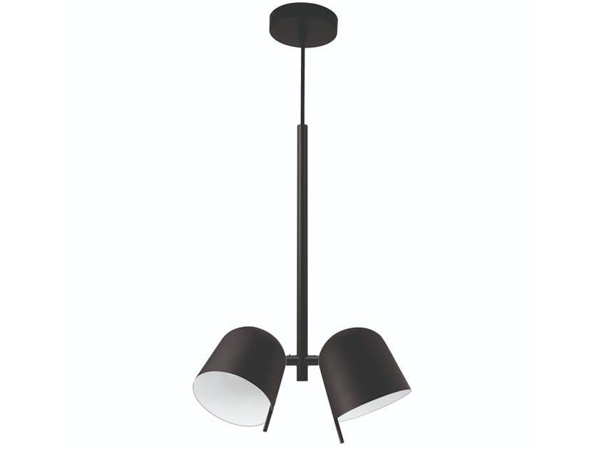Lampada a sospensione a luce diretta orientabile in ottone HÔ | Lampada a sospensione by Specimen Editions
