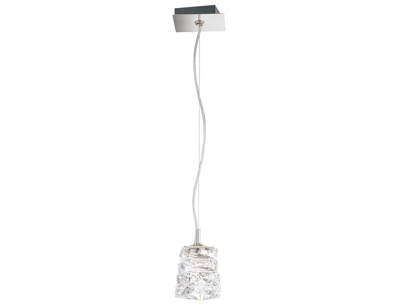 LED crystal and stainless steel pendant lamp GLISSANDO | Pendant lamp by Swarovski