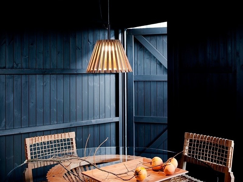 LED teak pendant lamp MIZAR | Pendant lamp by Unopiù