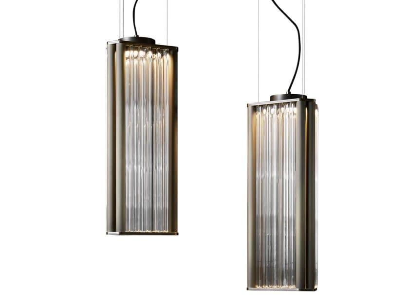 Lampada a sospensione a LED in vetro soffiato con dimmer NUMA | Lampada a sospensione by VeniceM