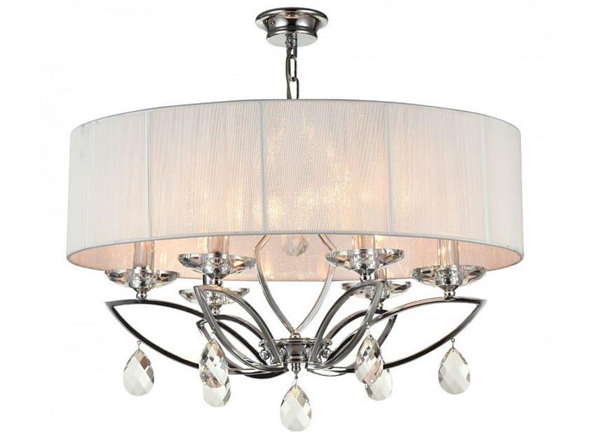 Fabric pendant lamp with crystals MIRAGGIO | Pendant lamp with crystals by MAYTONI